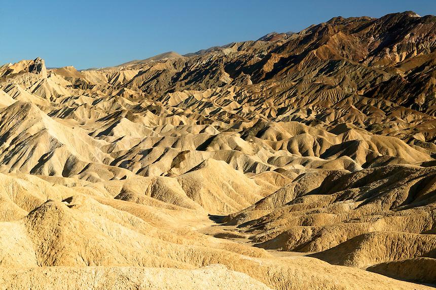 Looking up Gower Gulch towards Zabriskie Point, Death Valley National Park, California.