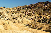 Looking up Gower Gulch towards Zabriskie Point, Death Valley National Park, California.