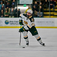 21 November 2017: University of Vermont Catamount forward Craig Puffer in second period action against the University of Connecticut Huskies at Gutterson Fieldhouse in Burlington, Vermont. The Huskies defeated the Catamounts 4-1 in Hockey East play. Mandatory Credit: Ed Wolfstein Photo *** RAW (NEF) Image File Available ***