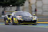 #60 Iron Lynx Ferrari 488 GTE EVO LMGTE Am, Claudio Schiavoni, Paolo Ruberti, Raffaele Giammaria, 24 Hours of Le Mans , Free Practice 1, Circuit des 24 Heures, Le Mans, Pays da Loire, France