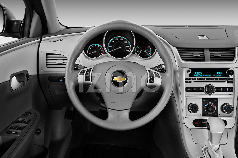 Steering wheel view of a 2012 Chevrolet Malibu 1LS
