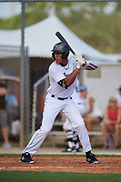 Reggie Crawford during the WWBA World Championship at the Roger Dean Complex on October 18, 2018 in Jupiter, Florida.  Reggie Crawford is a left handed pitcher from Frackville, Pennsylvania who attends North Schuylkill High School and is committed to UCONN.  (Mike Janes/Four Seam Images)