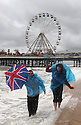 29/08/11...Sarah Jarret, 21, and Andrew Fry, 22, make the most of the August Bank Holiday weather on the beach at Blackpool...All rights reserved. F Stop Press 02392 599 888.Local copyright law applies to all print & online usage. Fees charged will comply with standard space rates and usage for that country, region or state.