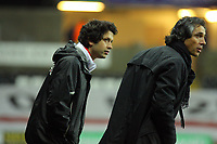 ATTENTION SPORTS PICTURE DESK<br /> Pictured L-R: Assistant manager Bruno Oliveira with manager Paulo Sousa.<br /> Re: Coca Cola Championship, Swansea City Football Club v Plymouth Argyle at the Liberty Stadium, Swansea, south Wales. Tuesday 08 December 2009