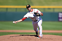 Mesa Solar Sox pitcher Neil Holland (50) during an Arizona Fall League game against the Surprise Saguaros on October 17, 2014 at Cubs Park in Mesa, Arizona.  Mesa defeated Mesa 5-3.  (Mike Janes/Four Seam Images)