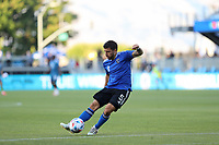 SAN JOSE, CA - MAY 12: Eric Remedi #5 of the San Jose Earthquakes before a game between Seattle Sounders FC and San Jose Earthquakes at PayPal Park on May 12, 2021 in San Jose, California.