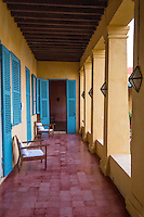 Outdoor Corridor of a Typical Goree House, Goree Island, Senegal