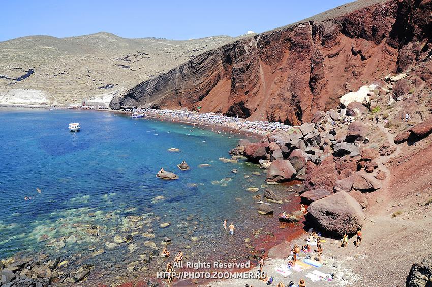 Red beach in Akrotiri, Thira (Santorini)