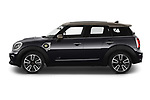 Car Driver side profile view of a 2020 MINI Countryman Cooper-SE-JCW 5 Door SUV Side View