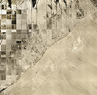 historical aerial photograph of Salton Sea, Imperial County, California, 1947