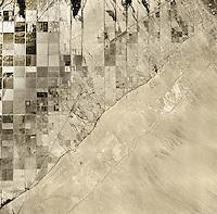 historical aerial photograph of Salton Sea, Imperial County, California, 1947