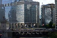 USA Chicago, downtown, skyscraper, Trump tower / Stadtzentrum mit Hochhaeusern
