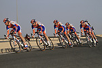 Rabobank Cycling Team in action during the 2nd Stage of the 2012 Tour of Qatar an 11.3km team time trial at Lusail Circuit, Doha, Qatar. 6th February 2012.<br /> (Photo Eoin Clarke/Newsfile)