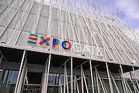 - Milano, Expo Gate, padiglione infopoint in piazza Castello per l'Esposizione Universale 2015.<br /> <br /> - Milan Expo Gate, info point in Castle Square for the World Exposition 2015.