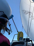 Pictured:  Natasha Lambert's boat Blown Away which is the catamaran she used for the challenge.<br /> <br /> A young woman with cerebral palsy has sailed 3,000 miles across the Atlantic ocean in just 18 days - using only her mouth and tongue to control the boat.<br /> <br /> Natasha Lambert, 23, used the 'sip and puff' system engineered by her electrician father to sail from Gran Canaria on the Western coast of Africa to St Lucia in the Caribbean.<br /> <br /> The trip, which hoped to raise £30,000 for three charities, took 18 days, 24 hours, 29 minutes and eight seconds to complete.   SEE OUR COPY FOR DETAILS.<br /> <br /> © Solent News & Photo Agency<br /> UK +44 (0) 2380 458800
