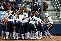 Berkeley, CA, May 5, 2013.Cal Women's Softball versus Stanford. Stanford won 7-5. Senior Day..Danielle Henderson homers.