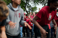 FRESNO, CA--Fans of the Cardinal enjoy the band send off before taking on Duke at the Save Mart Center for the West Regionals Championship of the 2012 NCAA Championships.