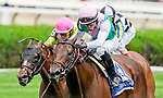 August 28, 2021: Viadera (GB) # 3, ridden by jockey Joel Rosario narrowly noses out #1 High Opinon ridden by jockey Luis Saez to win the Grade 2 Ballston Spa Stakes on the turf at Saratoga Race Course in Saratoga Springs, N.Y. on August 28th, 2021. Scott Serio/Eclipse Sportswire/CSM
