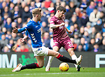 Rangers v St Johnstone…16.02.19…   Ibrox    SPFL<br />Matty Kennedy is blocked by Joe Worrall<br />Picture by Graeme Hart. <br />Copyright Perthshire Picture Agency<br />Tel: 01738 623350  Mobile: 07990 594431