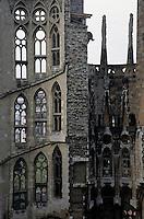 Spires of the Sagrada Familia cathedral, Barcelona, Spain.