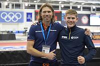 SPEEDSKATING: 14-02-2020, Utah Olympic Oval, ISU World Single Distances Speed Skating Championship, Gerard van Velde (coach Team Reggenborgh), Joep Wennemars, ©Martin de Jong