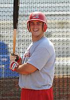 August 1, 2009: Infielder Matt Rigoli (29) of the Johnson City Cardinals, rookie Appalachian League affiliate of the St. Louis Cardinals, in a game at Howard Johnson Field in Johnson City, Tenn. Photo by: Tom Priddy/Four Seam