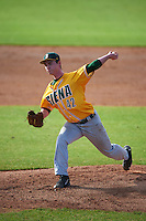 Siena Saints starting pitcher Tommy Miller (42) delivers a pitch during a game against the Pittsburgh Panthers on February 24, 2017 at Historic Dodgertown in Vero Beach, Florida.  Pittsburgh defeated Siena 8-2.  (Mike Janes/Four Seam Images)