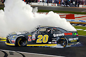 NASCAR XFINITY Series<br /> O'Reilly Auto Parts 300<br /> Texas Motor Speedway<br /> Fort Worth, TX USA<br /> Saturday 4 November 2017<br /> Erik Jones, GameStop Call of Duty WWII Toyota Camry celebrates his win with a burnout<br /> World Copyright: Russell LaBounty<br /> LAT Images