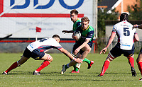 Saturday 26th September 2020 | Malone vs Ballynahinch<br /> <br /> Paddy Wright looks for a gap for Ballynahinch during the Ulster Senior League fixture between Malone and Ballynahinch at Gibson Park, Belfast, Northern Ireland. Photo by John Dickson / Dicksondigital