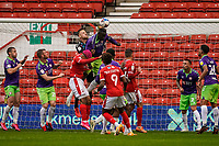 3rd October 2020; City Ground, Nottinghamshire, Midlands, England; English Football League Championship Football, Nottingham Forest versus Bristol City; Daniel Bentley of Bristol City manages to punch the ball clear