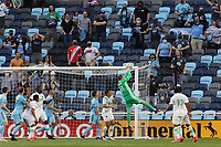 SAINT PAUL, MN - MAY 1: Brad Stuver #41 of Austin FC with the save during a game between Austin FC and Minnesota United FC at Allianz Field on May 1, 2021 in Saint Paul, Minnesota.