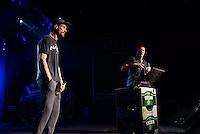 Sleaford Mods spielten am Freitag den 19. Juni 2015 live im Berliner Club SO36.<br /> Sleaford Mods ist ein englisches Post-Punk-/Hip-Hop-Duo aus Nottingham, bestehend aus Saenger/Rapper Jason Williamson (rechts im Bild) und Multiinstrumentalist Andrew Robert Lindsay Fearn (links im Bild).<br /> 19.6.2015, Berlin<br /> Copyright: Christian-Ditsch.de<br /> [Inhaltsveraendernde Manipulation des Fotos nur nach ausdruecklicher Genehmigung des Fotografen. Vereinbarungen ueber Abtretung von Persoenlichkeitsrechten/Model Release der abgebildeten Person/Personen liegen nicht vor. NO MODEL RELEASE! Nur fuer Redaktionelle Zwecke. Don't publish without copyright Christian-Ditsch.de, Veroeffentlichung nur mit Fotografennennung, sowie gegen Honorar, MwSt. und Beleg. Konto: I N G - D i B a, IBAN DE58500105175400192269, BIC INGDDEFFXXX, Kontakt: post@christian-ditsch.de<br /> Bei der Bearbeitung der Dateiinformationen darf die Urheberkennzeichnung in den EXIF- und  IPTC-Daten nicht entfernt werden, diese sind in digitalen Medien nach §95c UrhG rechtlich geschuetzt. Der Urhebervermerk wird gemaess §13 UrhG verlangt.]