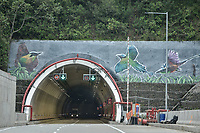 "LA LINEA - COLOMBIA, 29-08-2020: Túnel Colibríes. El túnel principal ""La Línea"" tiene una longitud de  8,65 km y hace parte de El Túnel de La Línea el proyecto de infraestructura vial más importnate de Colombia que está es fase final de construcción conectará de manera eficiente los departamentos colombianos de Quindío y Tolima. El plan además consta de 24 puentes y 20 túneles de diferentes longitudes. / Hummingbirds Tunnel. The main tunnel ""La Línea"" has a length of 8.65 km and is part of El Túnel de La Línea, the most important road infrastructure project in Colombia, which is in the final phase of construction and will efficiently connect the Colombian departments of Quindío and Tolima. The plan also consists of 24 bridges and 20 tunnels of different lengths. Photo: VizzorImage / Gabriel Aponte / Staff"
