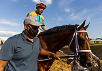 MAY 15, 2021:Somelikeithotbrown and Jose Ortiz win the Dinner Party Stakes at Pimlico Racecourse in Baltimore, Maryland on May 15, 2021. EversEclipse Sportswire/CSM