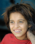 A Roma girl in Suto Orizari, Macedonia. The mostly Roma community, located just outside Skopje, is Europe's largest Roma settlement. .