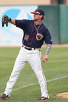 Tanner Mathis #14 of the Lancaster JetHawks during a game against the Lake Elsinore Storm at The Hanger on August 2, 2014 in Lancaster, California. Lake Elsinore defeated Lancaster, 5-1. (Larry Goren/Four Seam Images)