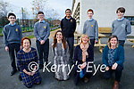 CBS the Green students who are in the BT Young Scientist Exhibition stand with their teachers at the school. Kneeling l to r: Geraldine O'Shea, Maura Fitzgerald, Jennifer Stack and Eilín Enright. Back l to r: Ethan Ward, Philip Tracey, Joel Varghese, Conor Flaherty and Preston O'Keeffe.