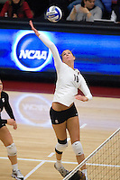 STANFORD, CA - DECEMBER 5:  Alix Klineman of the Stanford Cardinal during Stanford's 3-0 win over Albany in the NCAA Division 1 Women's Volleyball first round on December 5, 2008 at Maples Pavilion in Stanford, California.