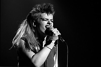 FILE PHOTO - Nina Hagen<br />  in concert in Montreal, Canada, January 30, 1984<br /> <br /> Photo :  Agence Quebec Presse - Denis Alix