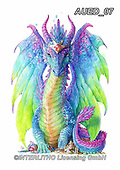 Carlie, REALISTIC ANIMALS, REALISTISCHE TIERE, ANIMALES REALISTICOS, paintings+++++Dragon-Mystic-Collection,AUED07,#A#, EVERYDAY ,fantasy