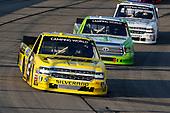 #2: Cody Coughlin, GMS Racing, Chevrolet Silverado Jeg's.com and #16: Brett Moffitt, Hattori Racing Enterprises, Toyota Tundra Destiny Homes