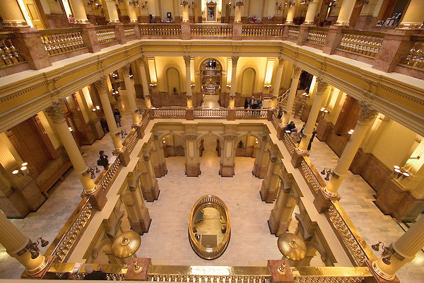 Legislators at the Colorado State Capitol with Greek Corinthian Architecture in Downtown Denver, Colorado. .  John offers private photo tours in Denver, Boulder and throughout Colorado. Year-round Colorado photo tours.