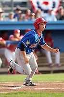 Auburn Doubledays second baseman Tony Renda #5 during a game against the Batavia Muckdogs at Dwyer Stadium on June 18, 2012 in Batavia, New York.  Auburn defeated Batavia 6-5.  (Mike Janes/Four Seam Images)