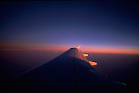 Sunlight on airplane wing<br />