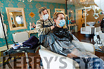 Joanne O'Carroll, Killarney having her hair done by Cathriona Rohan  at Cathriona's Hairsalon, Tralee.