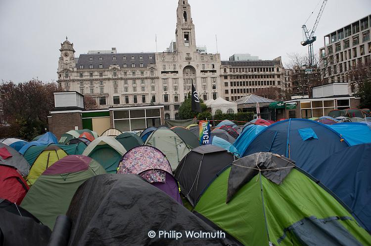 Occupy London camp, Finsbury Square.