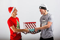 Wednesday 02 November 2016<br /> Pictured L-R: Jack Cork and Alfie Mawson<br /> Re: Swansea City Christmas Photo shoot, Liberty Stadium, Wales, UK