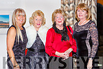 Tina O'Brien, Maria Duyn, Mary Hodnett and Anne Murphy Kenmare at the Absolutely Fabulous theme night in the Brehon Hotel on Saturday night