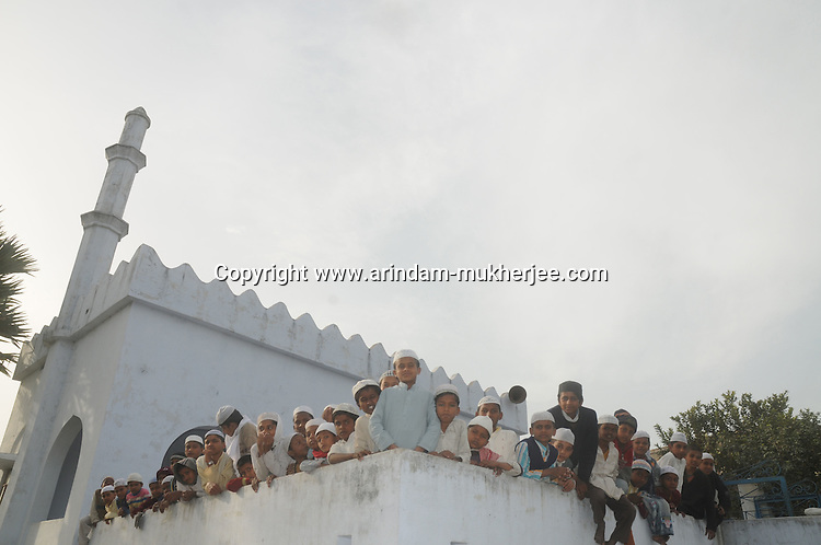 Muslim children at the Madrasa in Allahpur Village near Motihari, Bihar