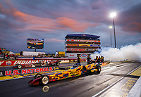 Sep 1, 2017; Clermont, IN, USA; NHRA jet dragster driver DeWayne Hill during qualifying for the US Nationals at Lucas Oil Raceway. Mandatory Credit: Mark J. Rebilas-USA TODAY Sports